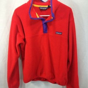 VTG Patagonia Red Fleece Pullover Jacket Sweater